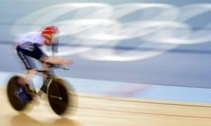 Ed Clancy of Great Britain competes in the men's omnium