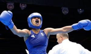 Great Britain's Natasha Jonas celebrates
