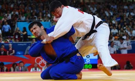 Tuvshinbayar Naidan of Mongolia competes