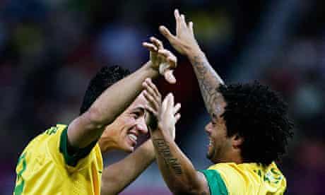 Brazil's Leandro Danião celebrates