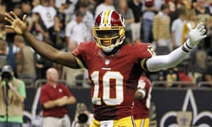 32993f5c8 Robert Griffin III outshines Drew Brees on NFL debut for Washington Redskins