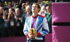 Andy Murray after winning Olympic gold