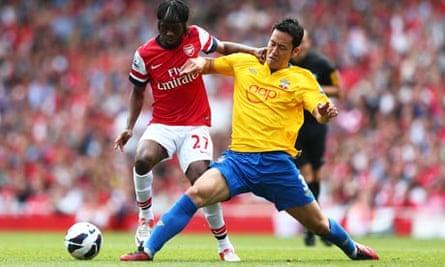 Gervinho. Arsenal. Southampton