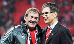 John W Henry with Kenny Dalglish after Liverpool's Carling Cup win in February 2012