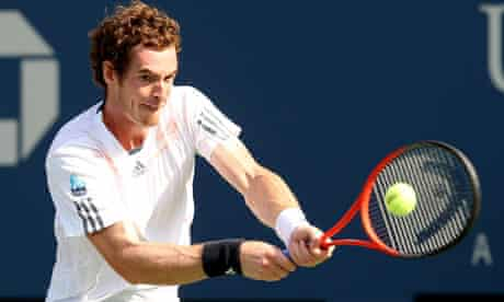 Andy Murray during his four-sets semi-final victory against Tomas Berdych at the US Open