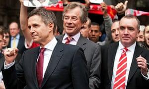 Christian Purslow, left, Martin Broughton and Ian Ayre