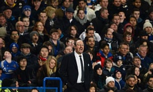 Rafael Benítez has endured a difficult relationship with Chelsea fans ever since becoming manager