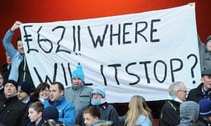 Manchester City fans' banner