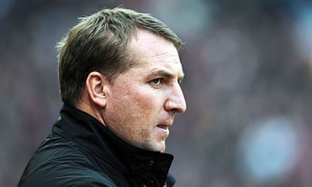 The Liverpool manager, Brendan Rodgers