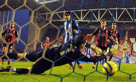 Wigan Athletic's midfielder Jordi Gomez