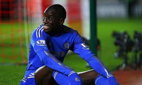 Demba Ba during Chelsea's 5-1 win over Southampton, which was his debut for the London club