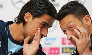 Sami Khedira and Mesut Özil