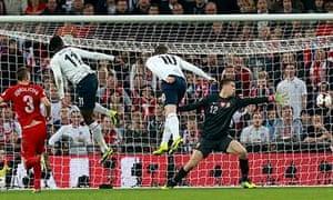 Wayne Rooney heads England in front