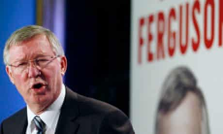 Sir Alex Ferguson at Tuesday's launch of his latest autobiography in London