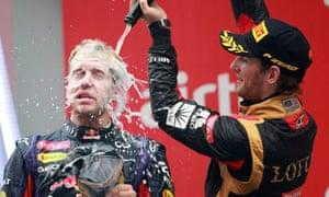 Could the fortunes of Sebastian Vettel, left, and Romain Grosjean, right, be reversed next season