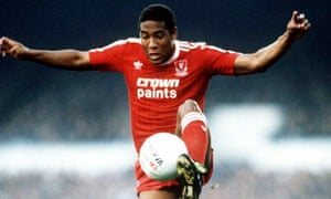 John Barnes in action in November 1987, when he was at the height of his powers for Liverpool