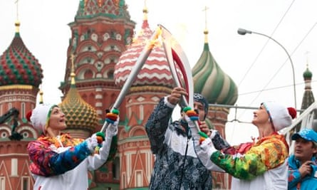 Russian Olympic Sochi 2014 Torch Relay Starts On Red Square
