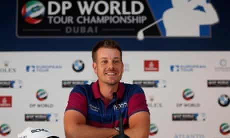 Henrik Stenson speaks to the media ahead of the DP World Tour Championship in Dubai