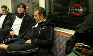 Joachim Low and his assistant Hansi Flick travel to Wembley on London underground
