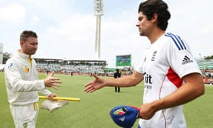 Michael Clarke, left, and Alastair Cook, Australia and England captains