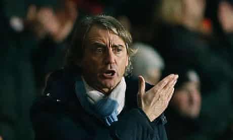 Manchester City's Roberto Mancini