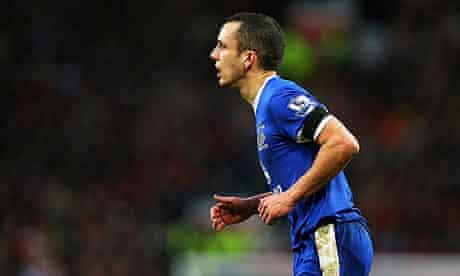 Everton's Leon Osman scored against Norwich City in the Premier League at Carrow Road