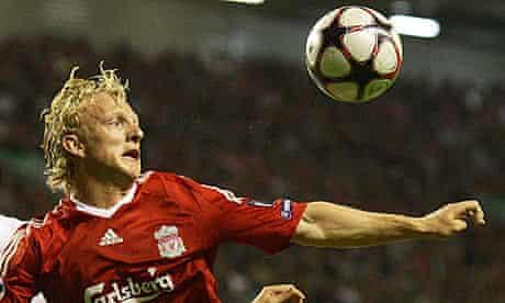 Liverpool's Dirk Kuyt against Debrecen