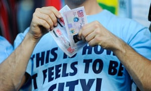 Manchester City fan with money