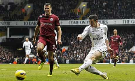 Tottenham Hotspur's Gareth Bale scores against Newcastle United