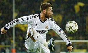 Real Madrid's Sergio Ramos