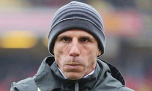 Watford's manager, Gianfranco Zola