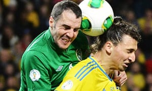 John O'Shea and Zlatan Ibrahimovic