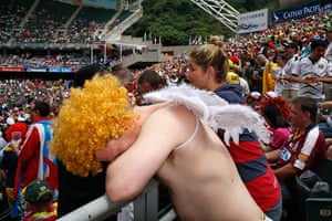 Rugby Sevens fans: Rugby Sevens South Stand – In Pictures