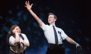 Gavin Creel and Jared Gertner in The Book of Mormon