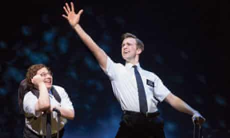 Gavin Creel and Jared Gertner in The Book of Mormon