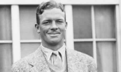 Bob Crisp in 1935 at Cardiff, where South Africa were playing a match against Glamorgan