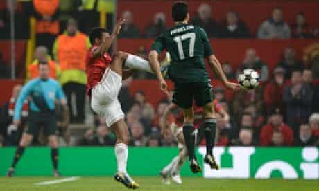 Nani's high challenge on Alvaro Arbeloa that earned him a red card.