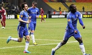 Chelsea's Victor Moses celebrates