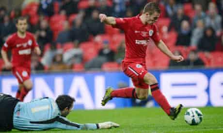 Callum McManaman skips past Millwall keeper David Forde to score