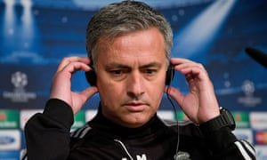 José Mourinho is all ears for the media