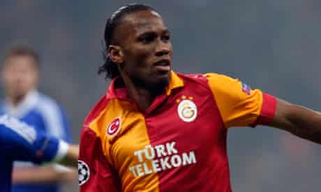 Didier Drogba in action for Galatasaray