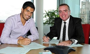 Ian Ayre and Luis Suarez