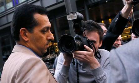 Mahmood al-Zarooni leaves the hearing