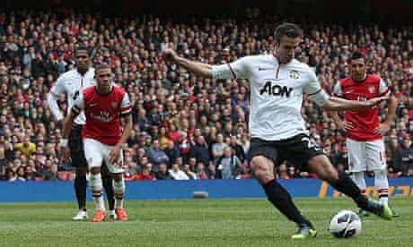 Robin van Persie Arsenal v Manchester United - Premier League