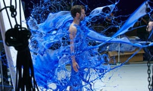 Juan Mata is covered in paint for Chelsea