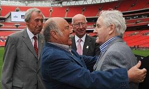 Gordon Banks and Sir Bobby Charlton at Wembley