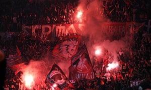 Olympiacos Piraeus basketball fans