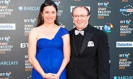 Sarah Storey, who is expecting her first child in six weeks' time, alongside her husband Barney Stor