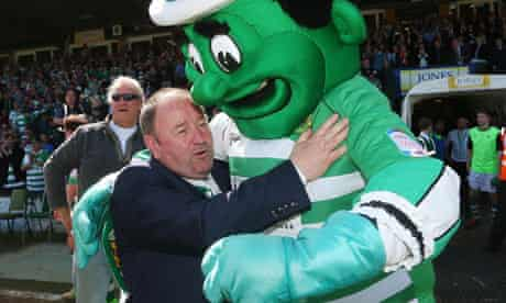 Yeovil Town's manager Gary Johnson