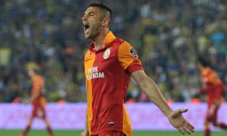 Galatasaray's Burak Yilmaz